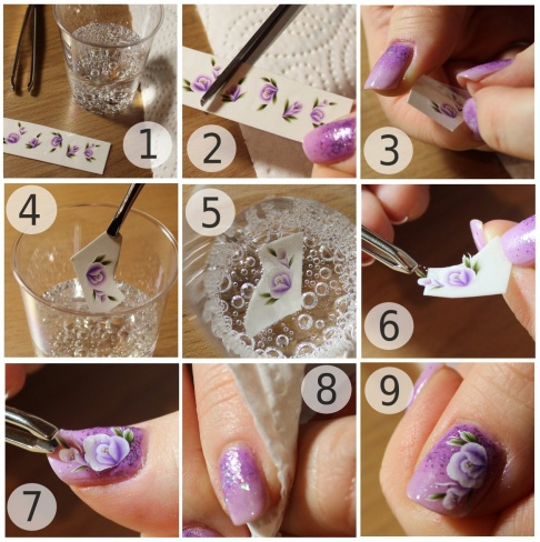 Comment mettre un waterdecal pour ongle nailart